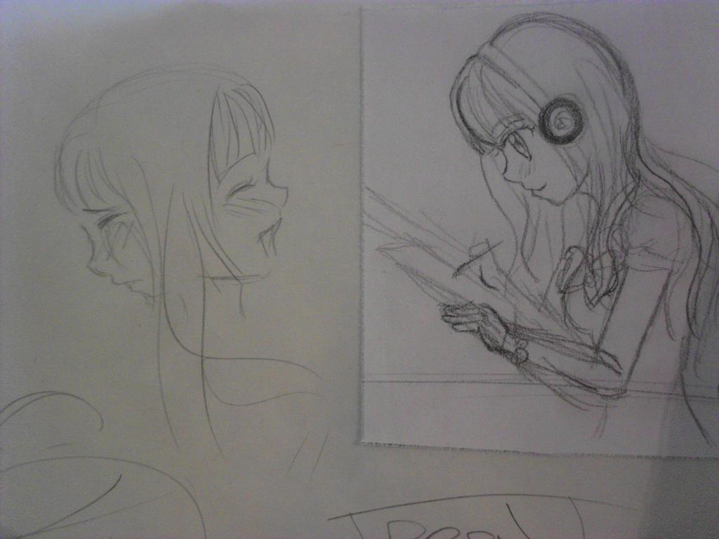 Happy sad drawing by michi77