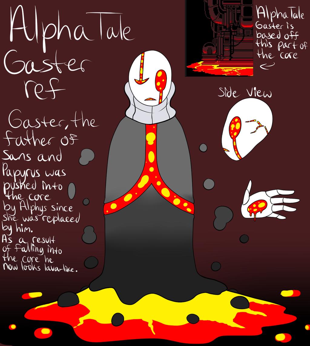 AlphaTale Gaster ref by ReneesDetermination