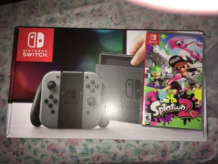 My Nintendo Switch and copy of Splatoon 2 by ReneesInnerIrken