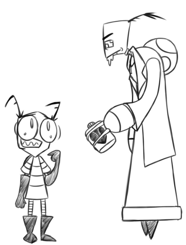 Tallest Rick and Morty sketch by ReneesInnerIrken