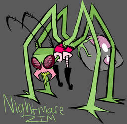 Nightmare Zim doodle thingy by RadioDemonDust