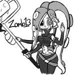 Sanitized Octoling OC Zomb13 doodle