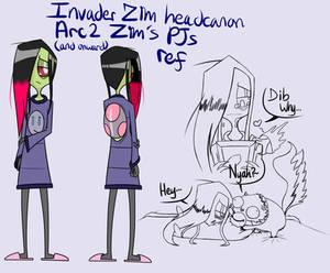 IZ headcanon arc 2 and onward Zim's PJs finalized  by RadioDemonDust