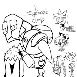InvaderZIM sketch dump by RadioDemonDust