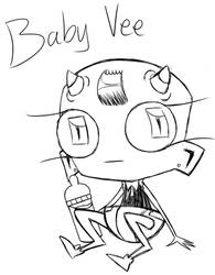 Baby Vee doodle (see description~) by RadioDemonDust