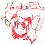 Flandre headshot doodle by HarmonicHazbin