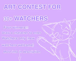 ART CONTEST FOR 30+ WATCHER AHHHH by StarBeanz