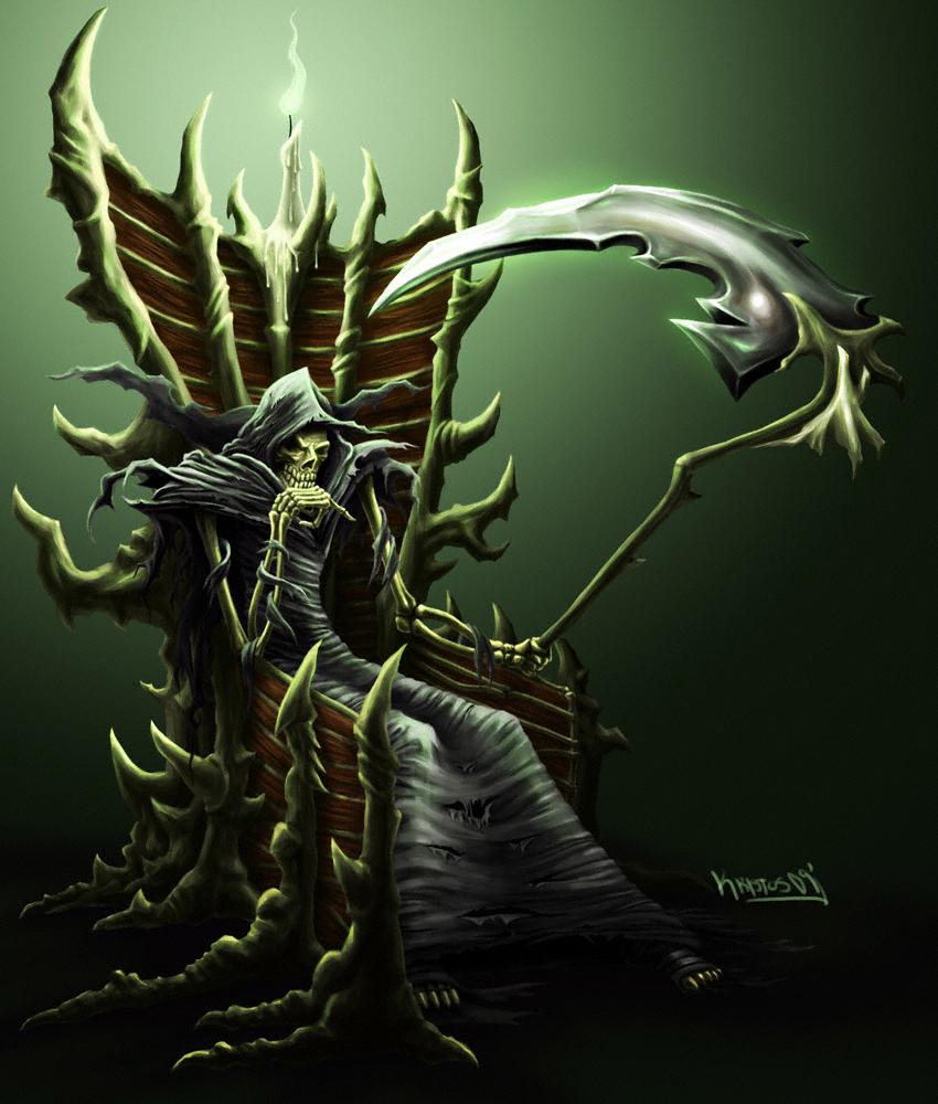 The Throne of Thanatos by Stoskri