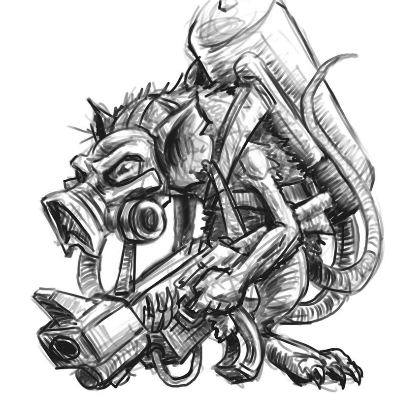 Gas Masks Drawing Gas Mask Drawing Rat Gas