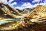 Tibetan Monestary Hillside