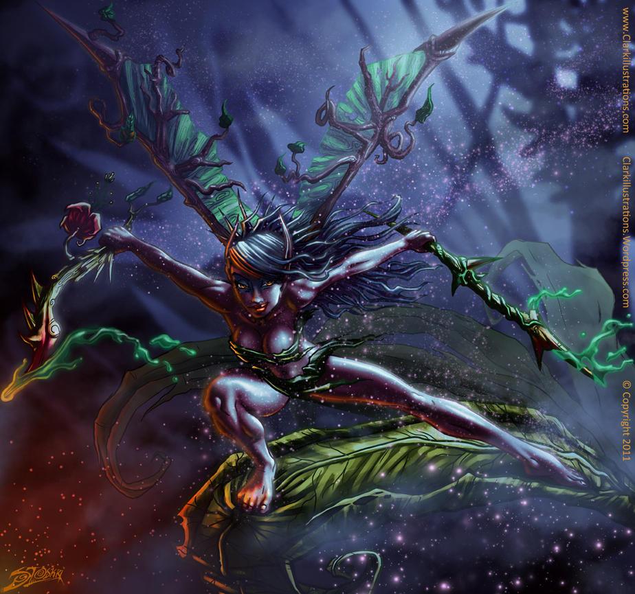 Dark Fairy Nyxie by Stoskri