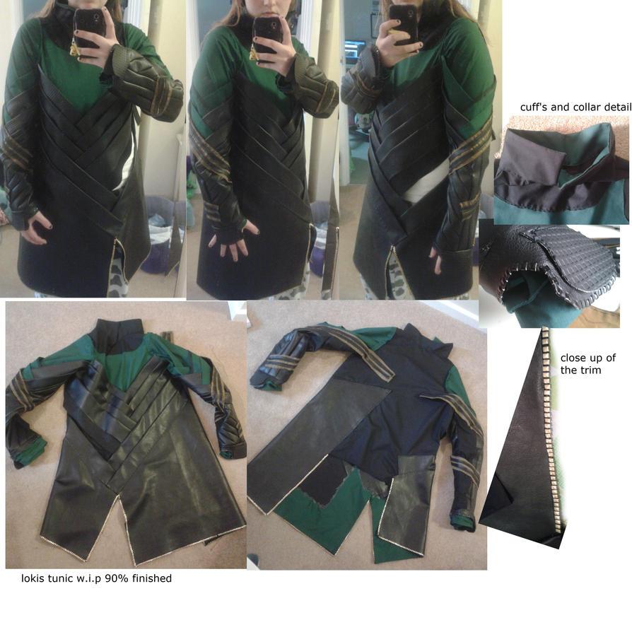 loki's tunic w.i.p - avengers cosplay by sasukeharber
