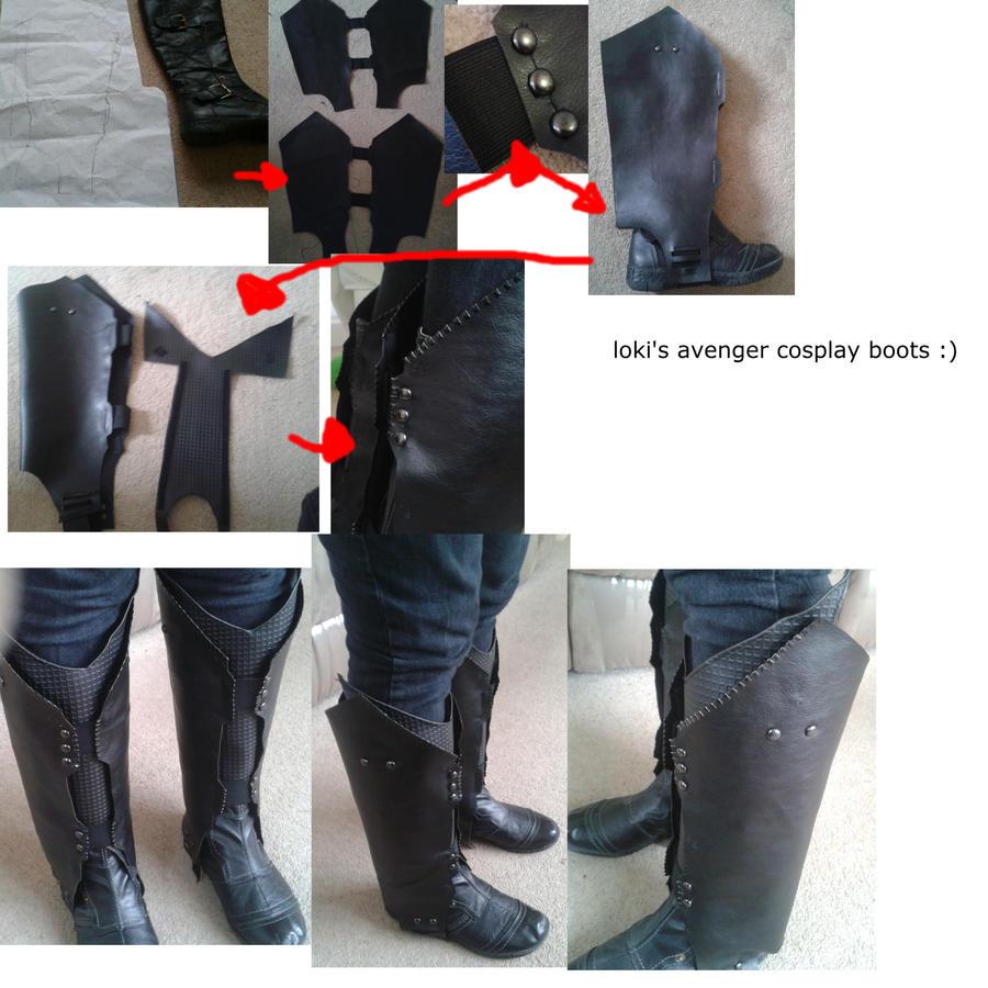 loki cosplay boots by sasukeharber