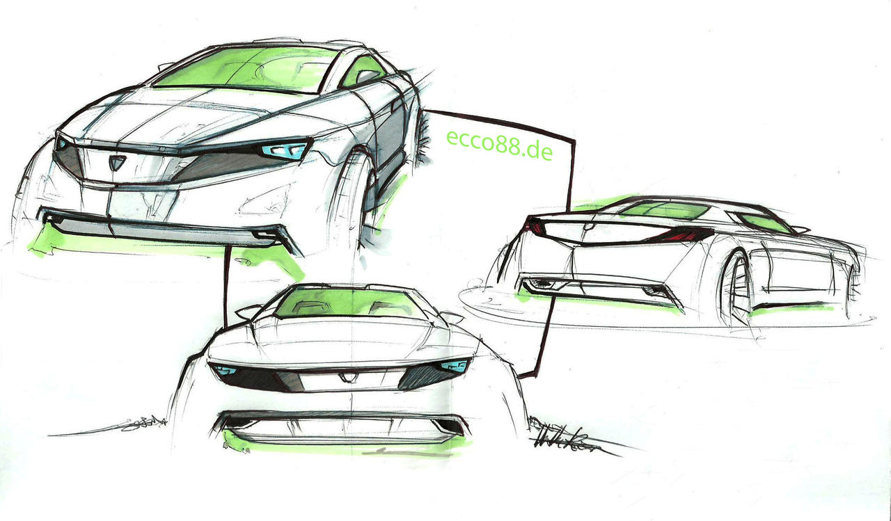 chevy car sketches COLOURED by ecco666