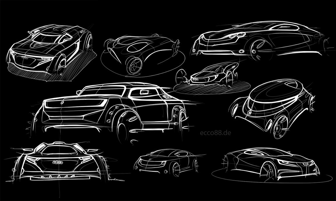some digital car sketches by ecco666
