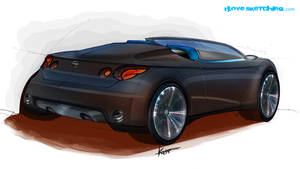 Nissan Convertible Rendering by ecco666