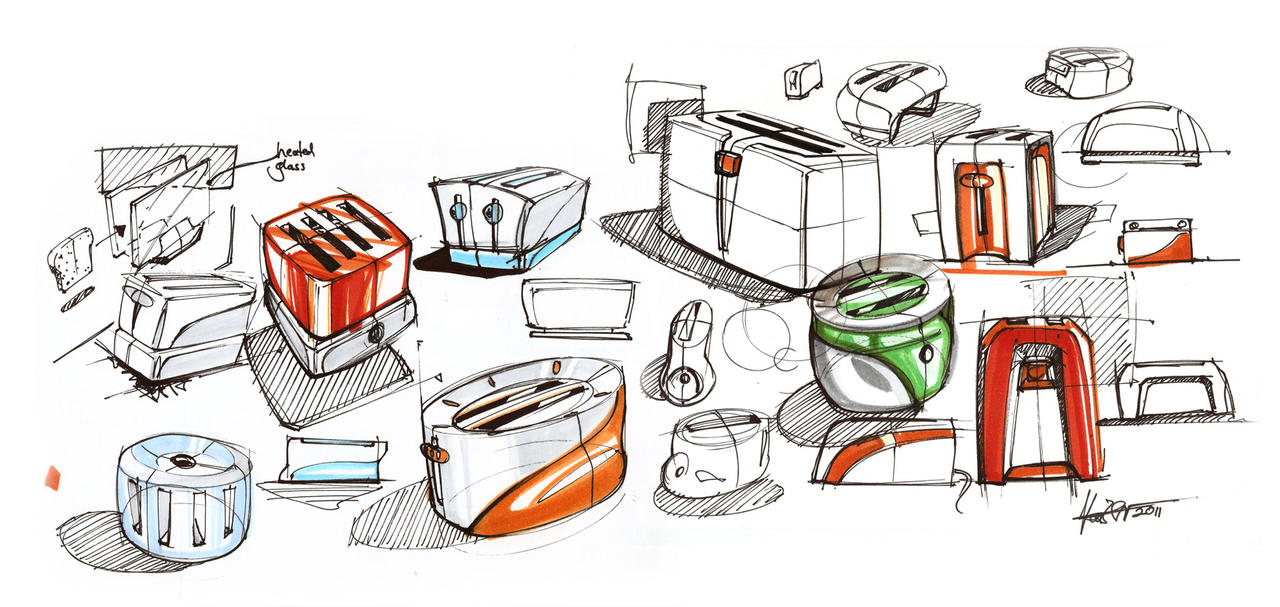 toaster doodles by ecco666