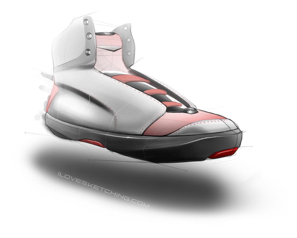 random shoe design sketch 2 photoshop rendering by ecco666
