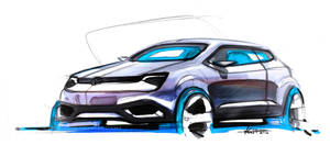 Volkswagen Marker Sketch