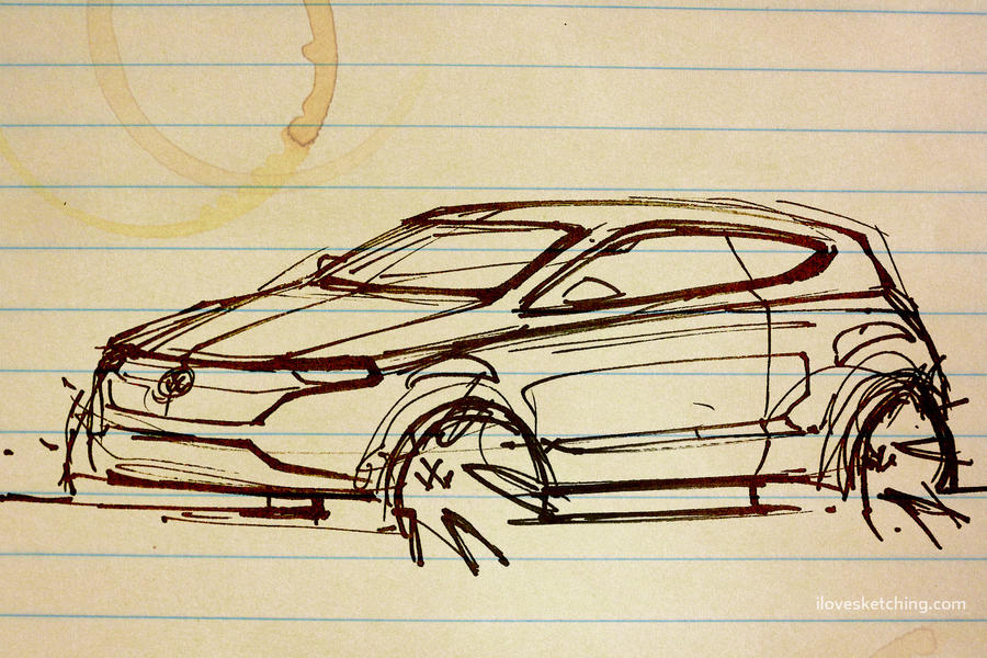 Volkswagen Polo Thumbnail Sketch by ecco666