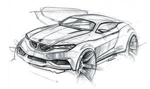 bmw coupe sketch
