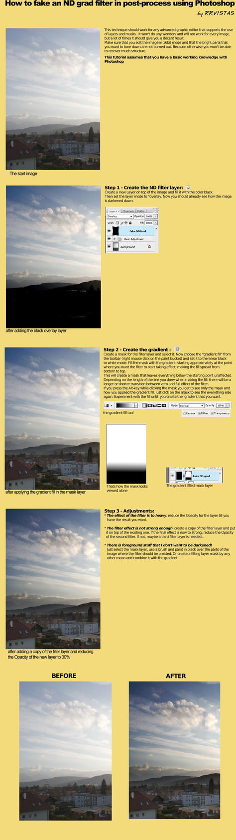 faking a ND grad filter in PS by RRVISTAS