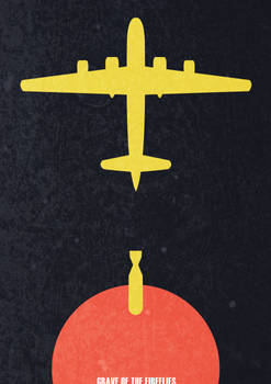 Minimalist Grave of the Fireflies poster