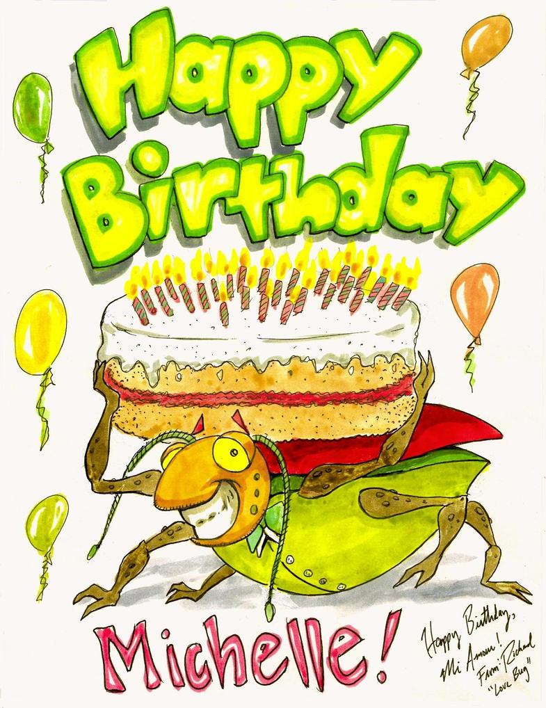 Happy Birthday Michelle by Ricardofantasyart