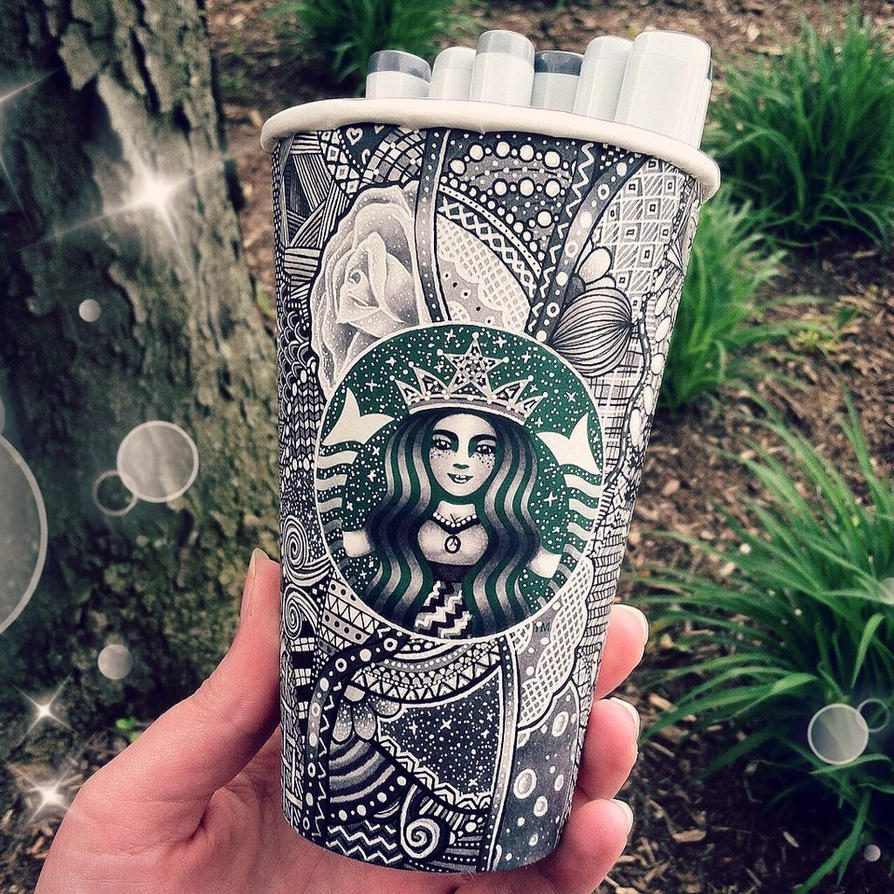 Grey Starbucks Cup by CreativeCarrah