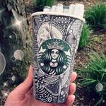 Grey Starbucks Cup by CreativeCarrah