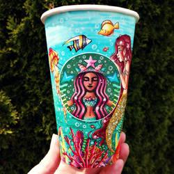 Sea-Life Starbucks Cup Art
