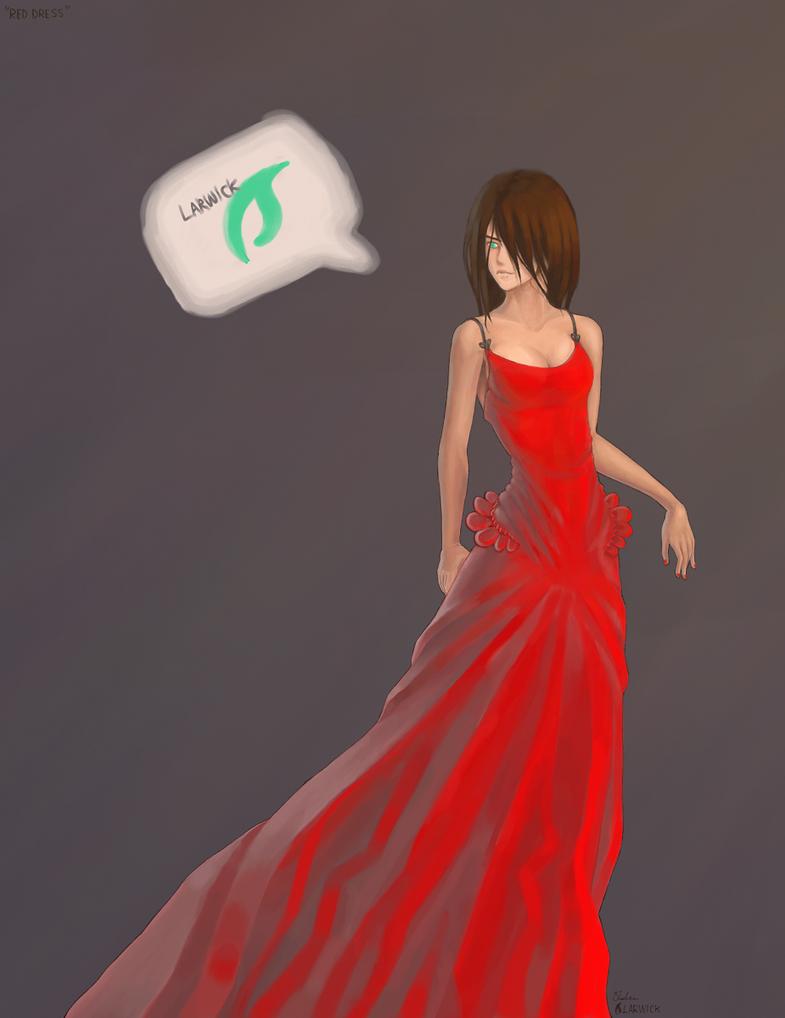 Beryl Eye Crimson Dress by Larwck