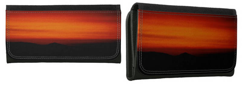 Sunset Glow Over Stukel Mountain Wallet