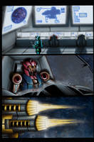 Transwarp page 9 coloured by Bluetabbycat