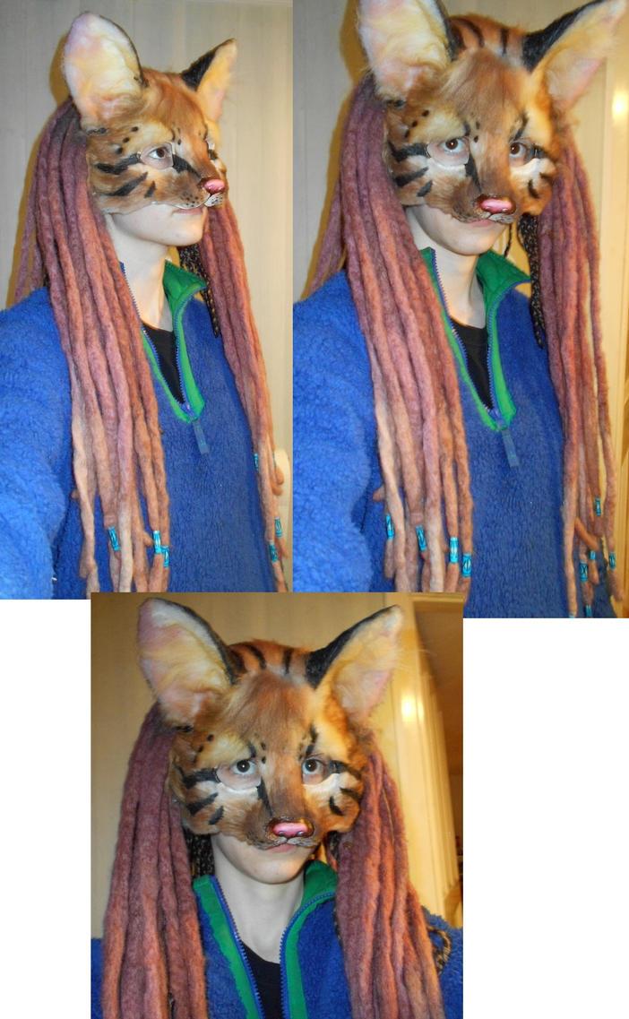Ocelot kitty mask by Bluetabbycat