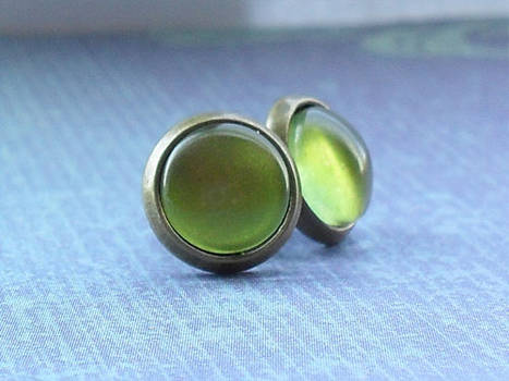 Little Olive Green Studs