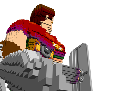 Ready for battle - Voxel Blade