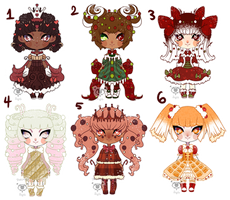 Gingerbread Adopts | OPEN | 3/6 by ShatteredSightAdopts