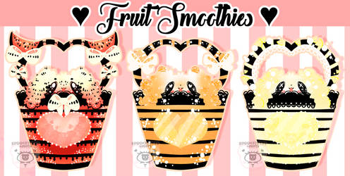 Anthro Auction | Fruit Smoothies | 1/3 OPEN by SpookstressAdopts