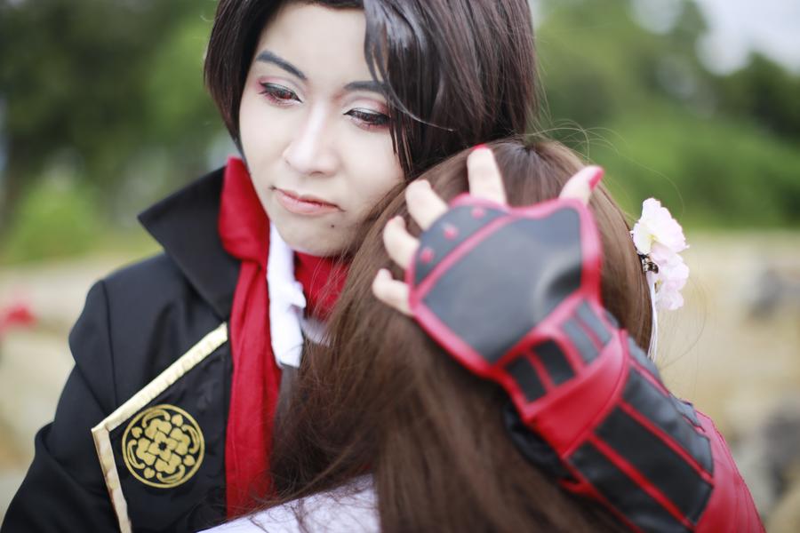Kashuu x Saniwa - Hug A9 by Makoto17