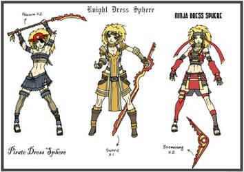 Rikku DF3 - Dress Spheres - 2 by Hunter-Wolf
