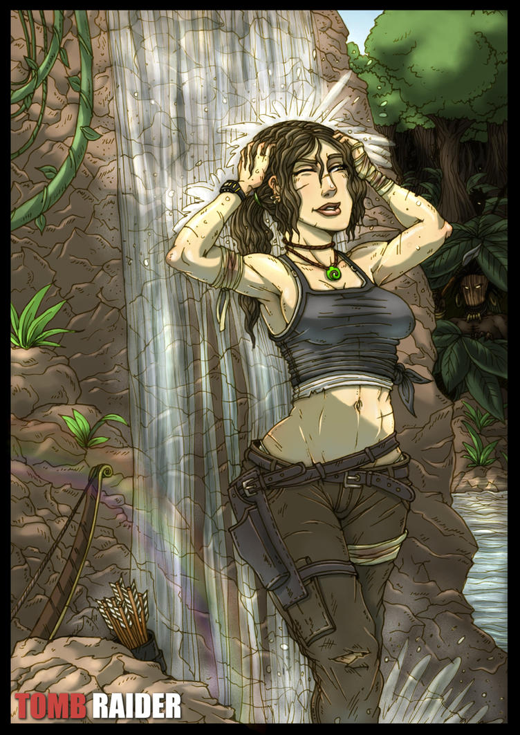 Tomb Raider Contest - A short peaceful moment by Hunter-Wolf