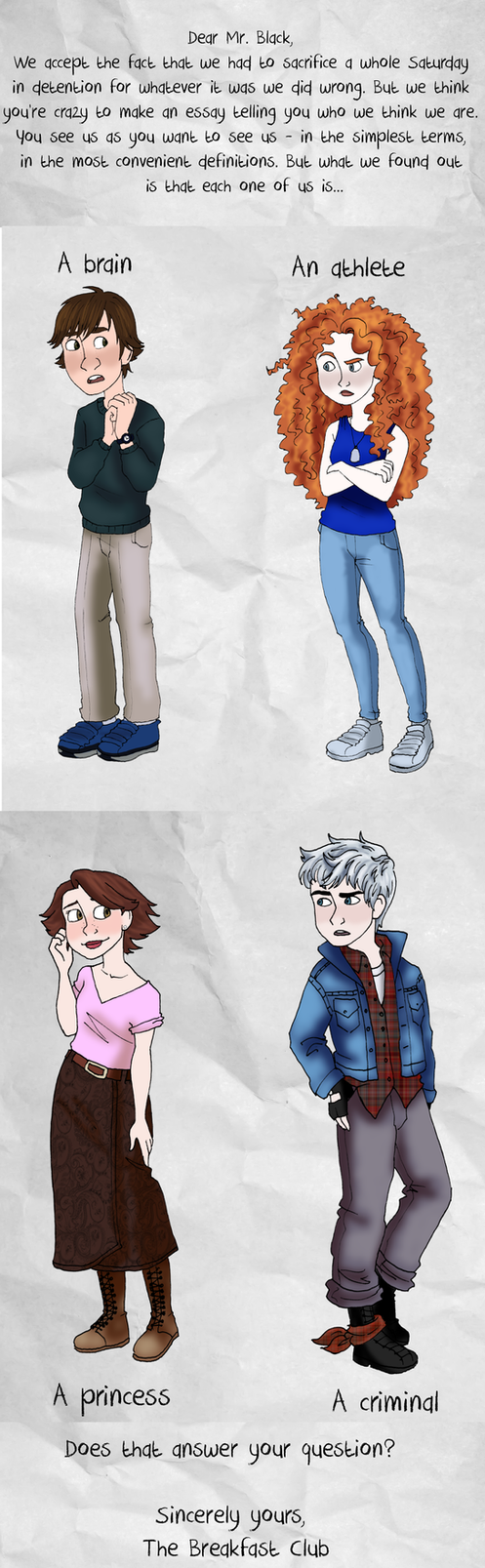 the breakfast club au by emkayoh on  the breakfast club au by emkayoh