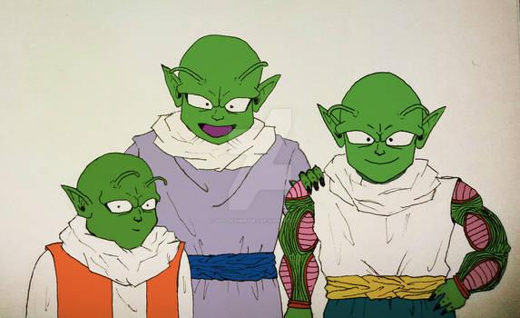 3 (very) Young Namekian Warriors... (vers 1)