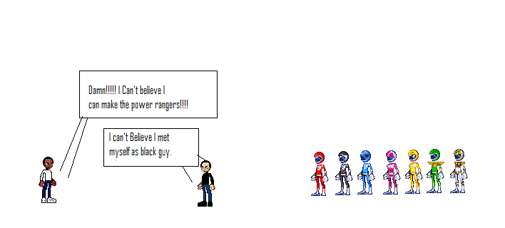 Power rangers sprites by HeroofTomorrow