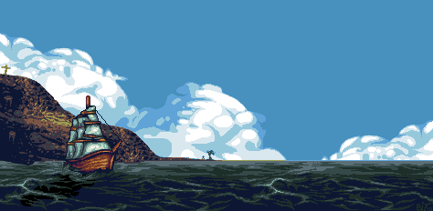 Lonely ship by bitswitcher