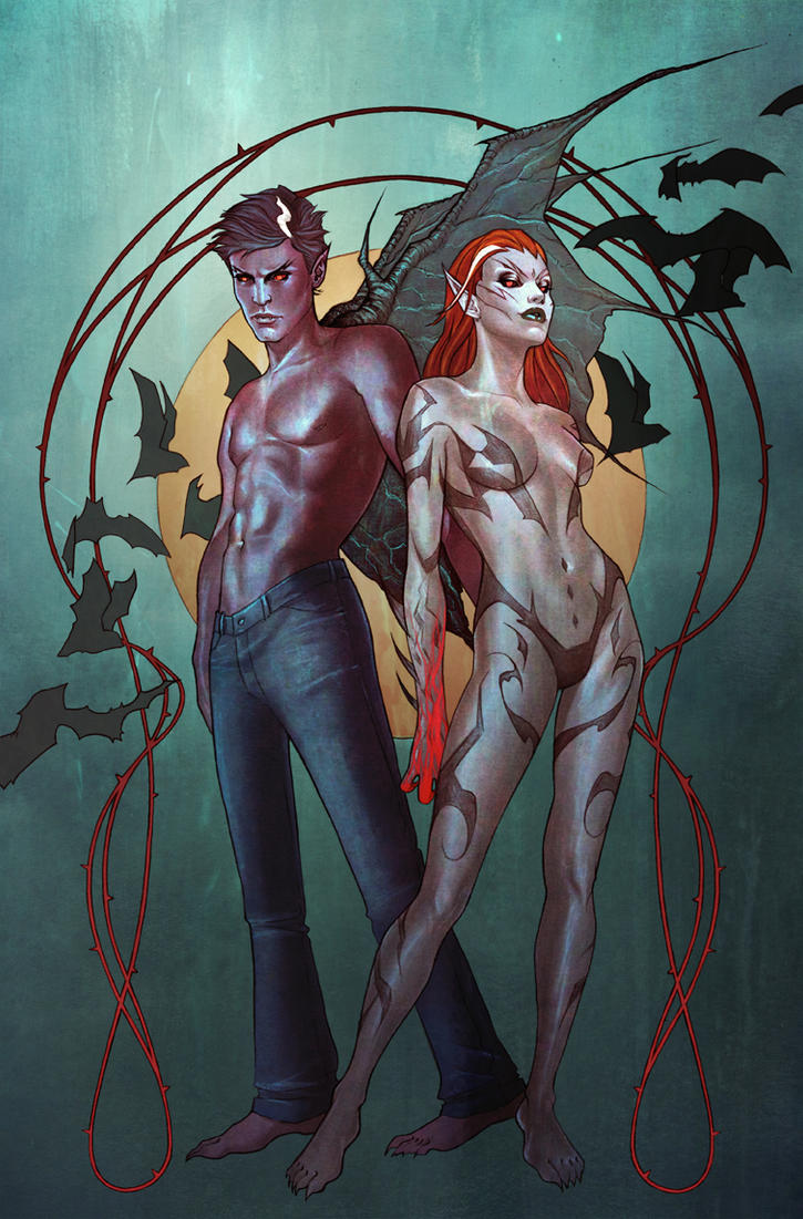 I, Vampire issue 1 cover by jfrison