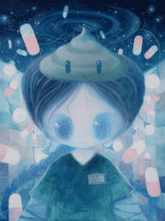 Mental Selvportrait by XkY