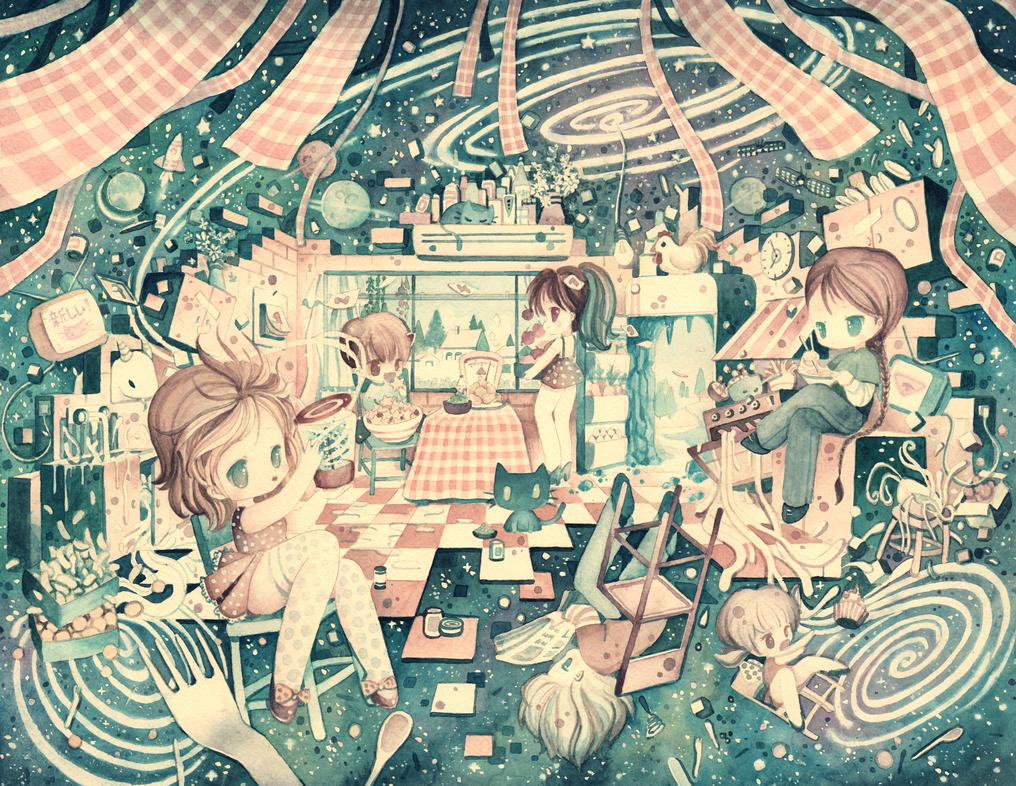 Cosmic Kitchen by XkY