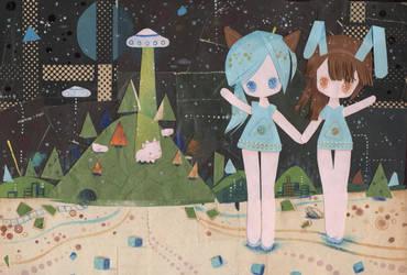 UFO Sisters by XkY